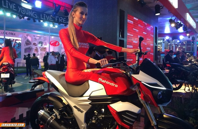 mahindra mojo 300 race version auto expo 2014