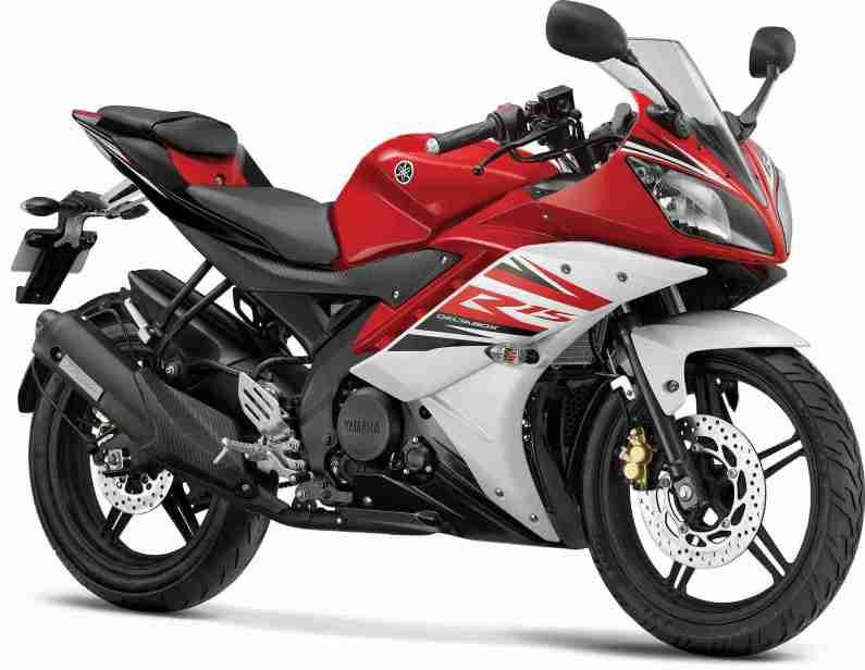2014 Yamaha YZF-R15 colour Raring red