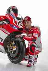 Andrea Dovizioso on his Ducati GP14