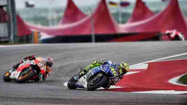 Rossi and Marquez MotoGP Austin 2014