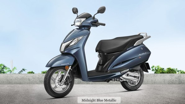 honda activa 125 colour - midnight blue metallic