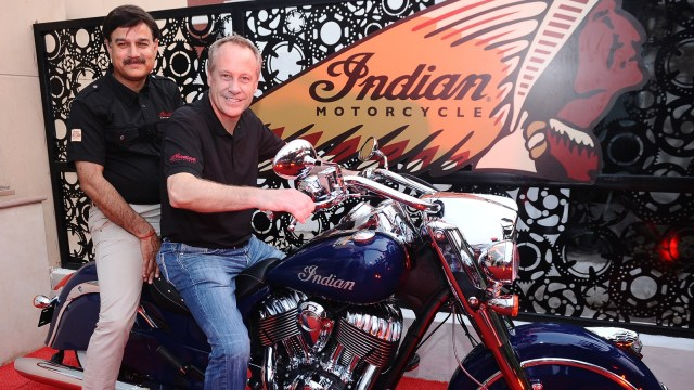 Indian Motorcycle Dealership India - (L to R) Mr Pankaj Dubey MD Polaris India Pvt and Mr Bennett Morgan - COO - Polaris Industries Inc