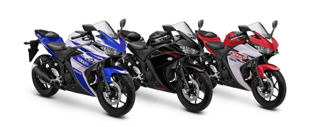 yamaha yzf r25 colour options