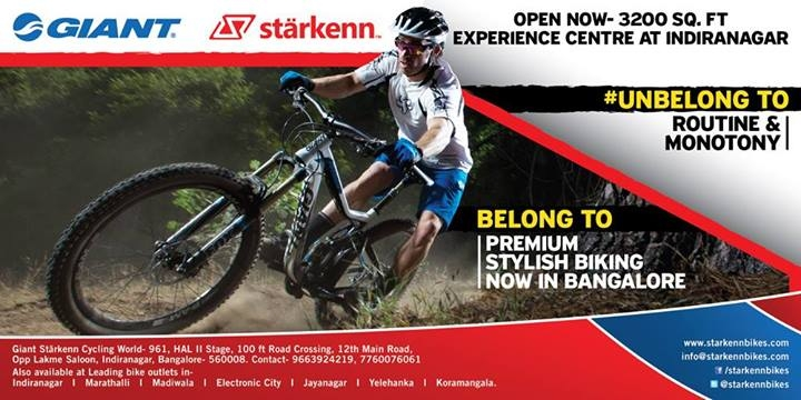 Giant Starkenn Cycling World now at Indiranagar