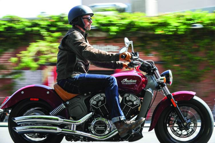 2015 Indian Scout launched - riding