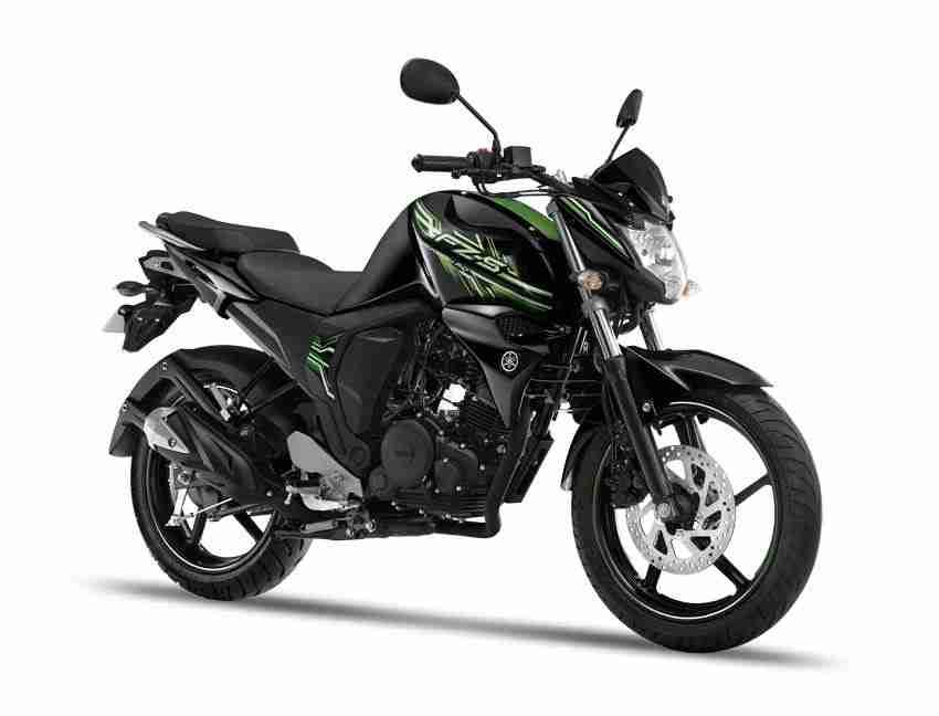 Yamaha FZ-S colour options - cyber-green
