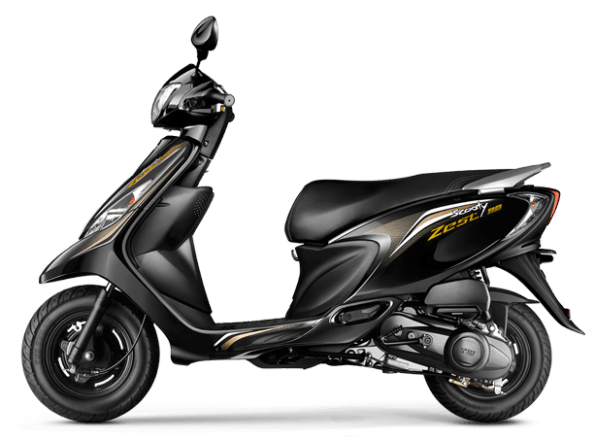 tvs scooty zest colour - black