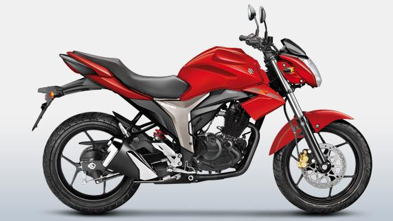 suzuki gixxer colour - Candy Antares Red