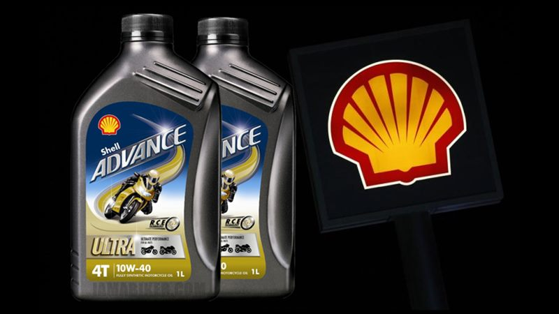 Shell Advance Ultra sythetic motorcycle engine oil