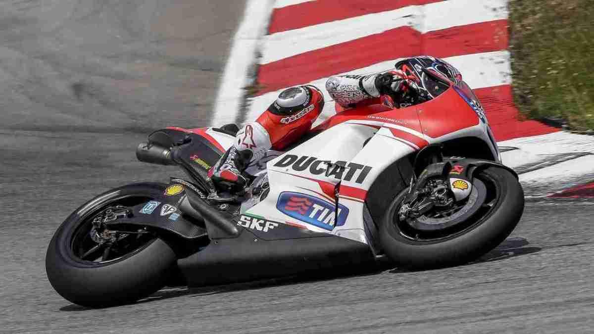 Andrea Dovizioso on the Ducati GP15