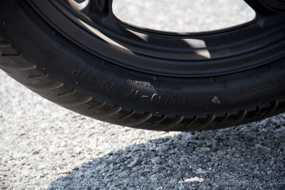 Honda CB Unicorn 160 CBS back tyre size