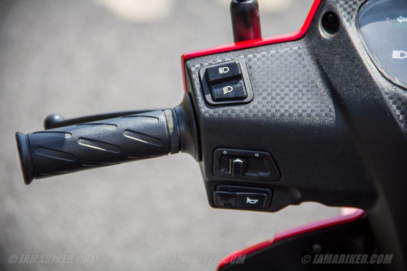 Suzuki Lets scooter left switch gear