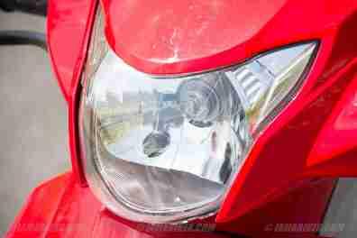 Suzuki Lets scooter headlight