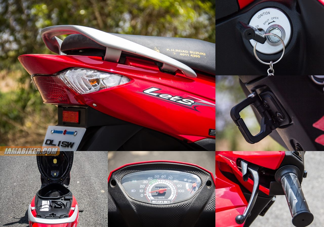 Suzuki Lets scooter accessories and key features