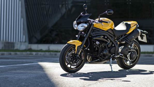 2015 Triumph Speed 94 racing yellow