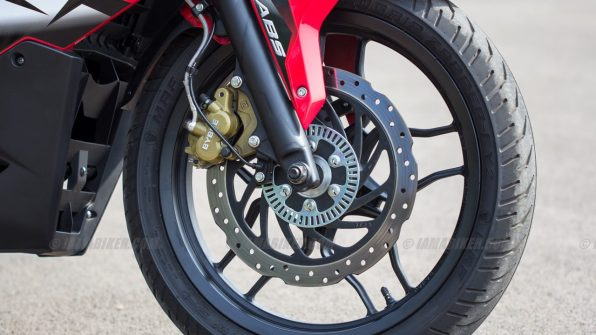 Pulsar RS 200 front tyre brake and ABS ring