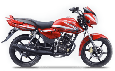 New 2015 TVS Phoenix 125 colour option Red hot