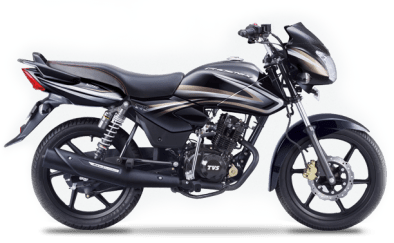New 2015 TVS Phoenix 125 colour option midnight black