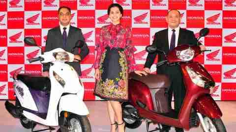 Honda scooters brand ambassador Taapsee Pannu