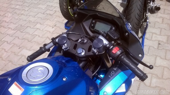 Suzuki Gixxer SF race spec clip on handle bars