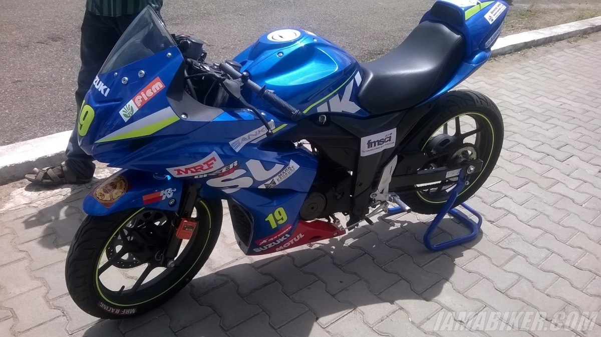 Suzuki Gixxer SF race spec for the Gixxer Cup