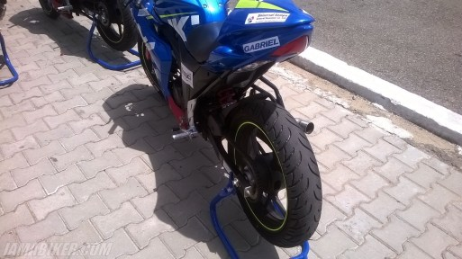 Suzuki Gixxer SF race spec Gixxer Cup tail section