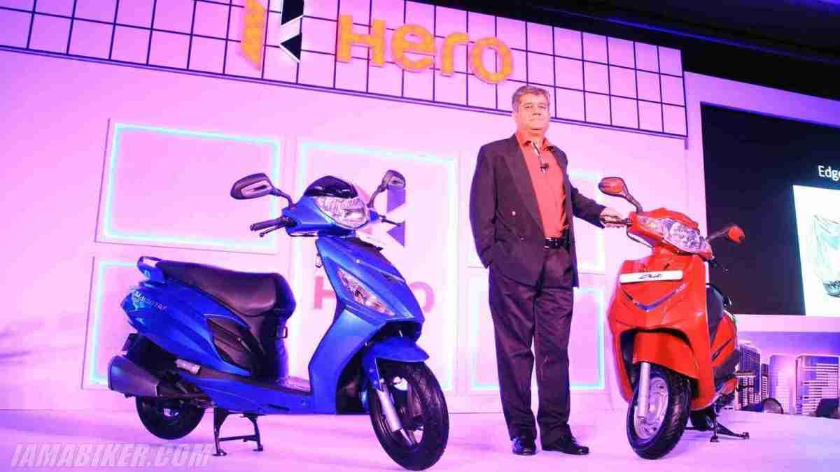 Hero Duet and Maestro Edge with Ashok Bhasin at Bangalore launch