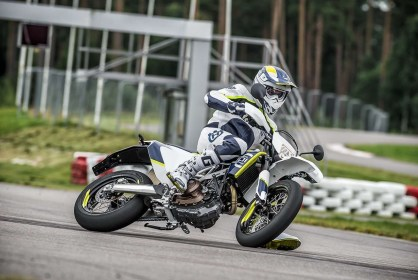 Husqvarna 701 Supermoto track side
