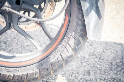 Pulsar AS 200 front tyre brand