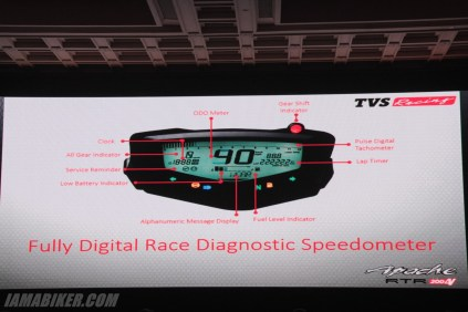 TVS Apache RTR 200 instrument cluster features