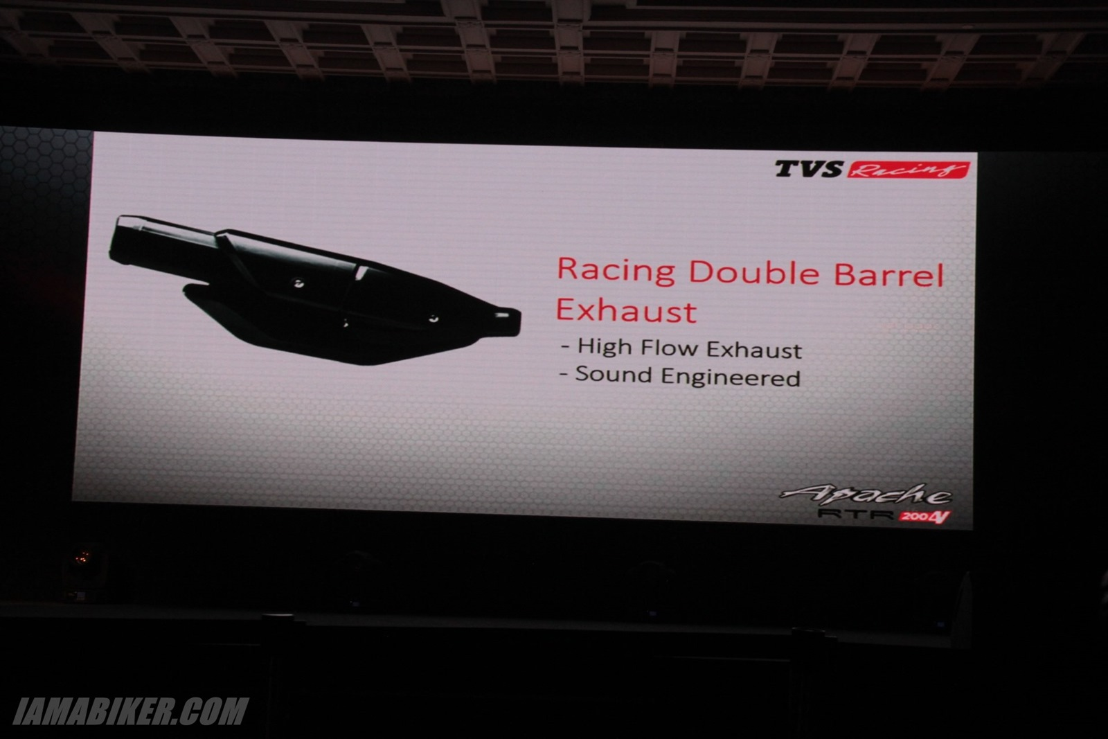 TVS Apache RTR 200 exhaust