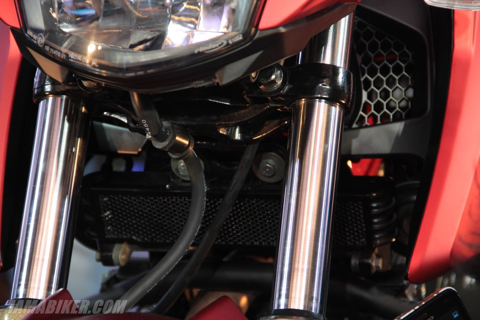 TVS Apache RTR 200 oil cooler