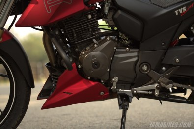 TVS Apache RTR 200 engine left side