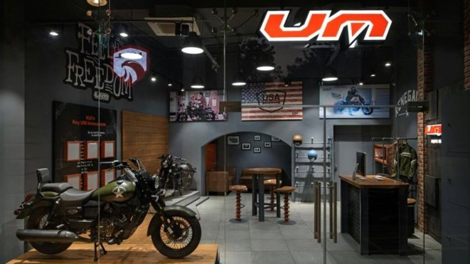 UM Motorcycles Delhi showroom