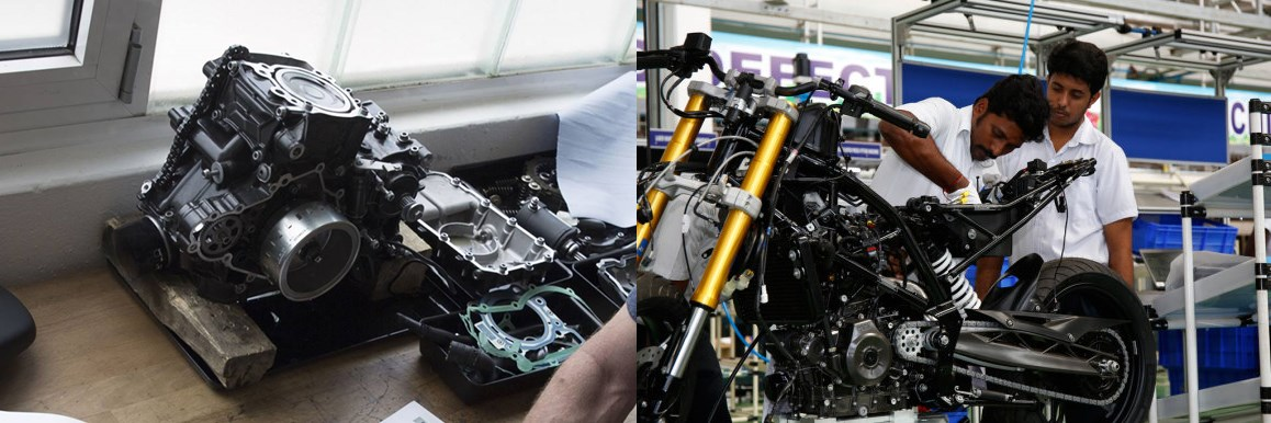 BMW G310R production at TVS factory