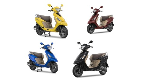 2017 TVS Scooty Zest 110 new colours
