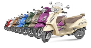 TVS Jupiter all colour options
