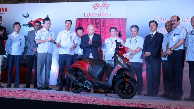 Yamaha Chennai factory reached the 1 million production milestone