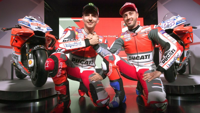 2018 Ducati GP18 with team