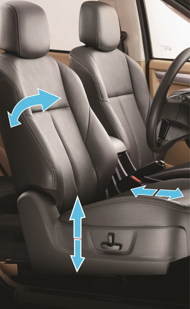 2018 ISUZU D-MAX V-Cross - 6-way power adjustable driver seat