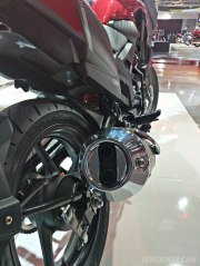 Honda XBlade exhaust silencer