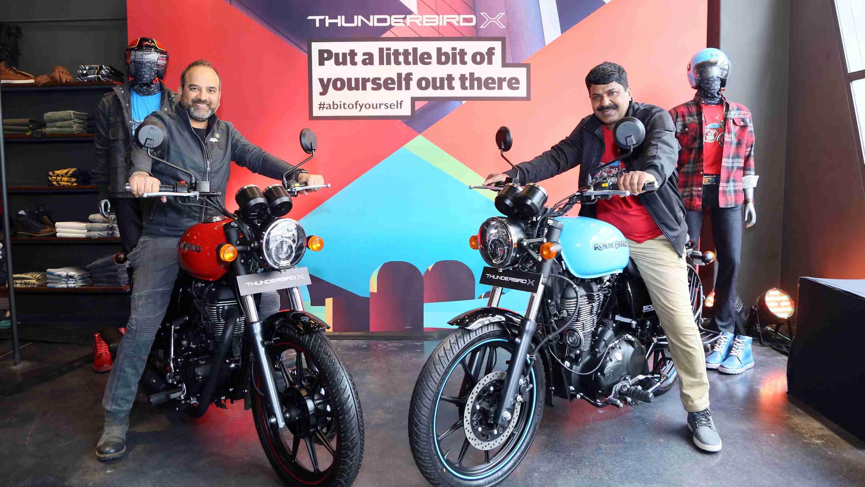 Mr. Rudratej Singh and Mr. Shaji Koshy launch Thunderbird 500X and Thunderbird 350X