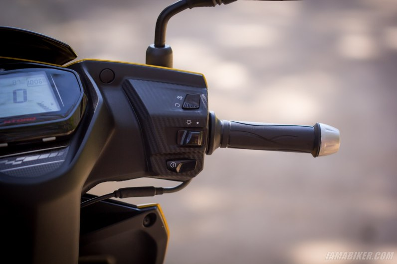 TVS NTORQ 125 right handlebar and switch gear