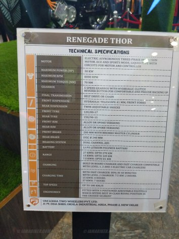 UM Renegade Thor specifications
