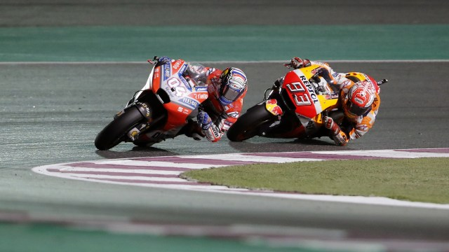 Andrea Dovizioso and Marc Marquez MotoGP Qatar