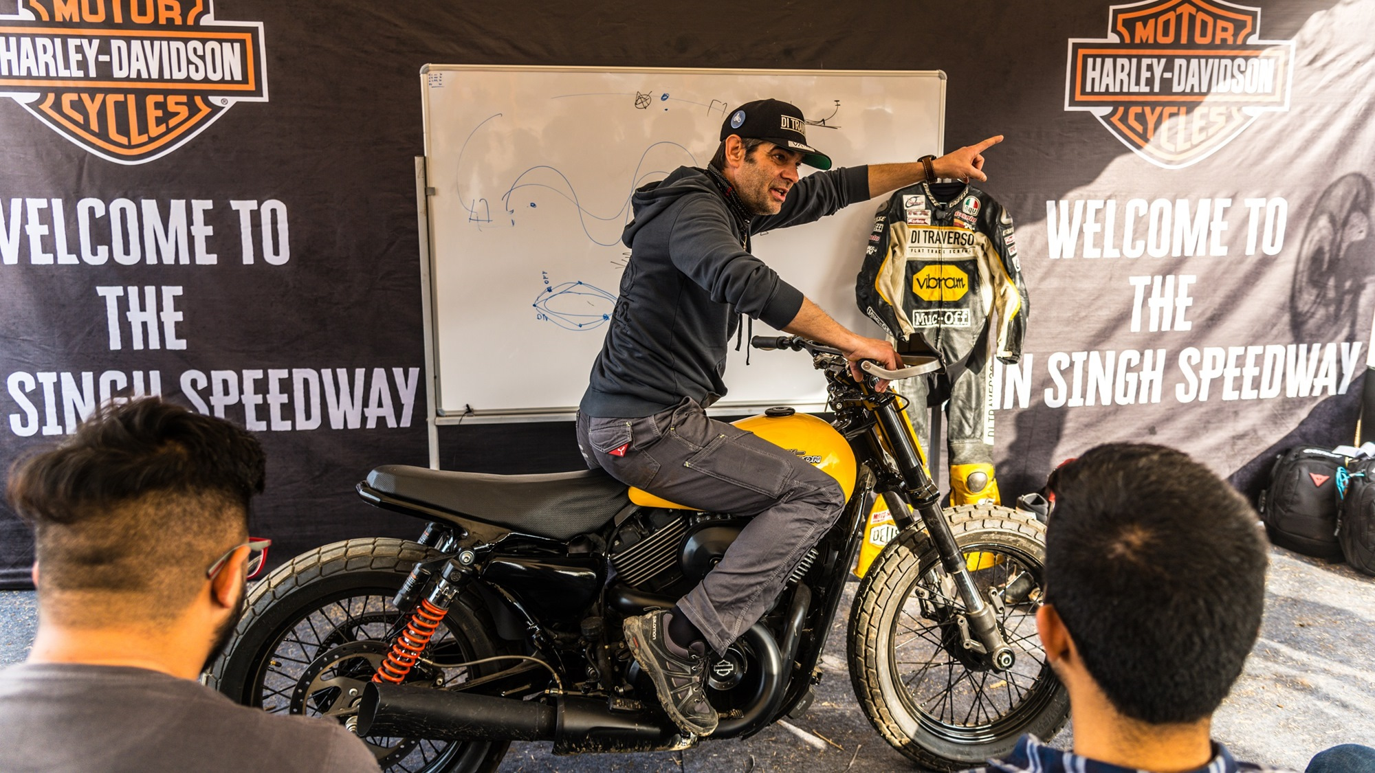 Harley Davidson Flat Track experience in India with Marco Belli