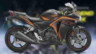 Honda CBR 250R Matte Axis Gray Metallic with Mars Orange colour option