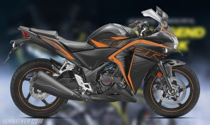 Honda CBR 250R Matte Axis Gray Metallic with Mars Orange colour option