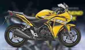 Honda CBR 250R Pearl Sports Yellow colour option