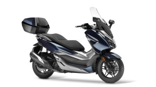 New Honda Forza 300 blue with top box